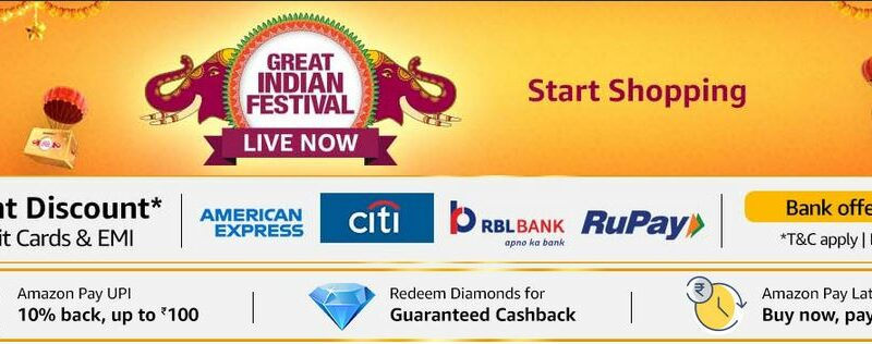 Amazon Great indian festival sale 2021, check cards offers